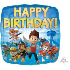 Square Paw Patrol Standard HX Happy Birthday! Foil Balloon 45cm
