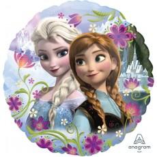 Round Disney Frozen Standard HX Anna & Elsa Foil Balloon 45cm