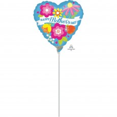 Mother's Day Blue Floral Foil Balloon