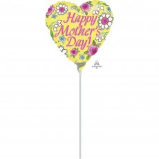 Mother's Day Yellow Shaped Balloon