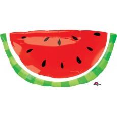 Hawaiian Party Decorations SuperShape XL Watermelon Shaped Balloons