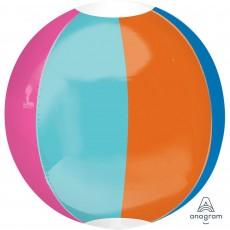 Stripes Beach Ball Shaped Balloon