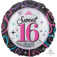 16th Birthday Sweet 16 Sparkle Standard HX Foil Balloon