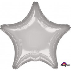 Silver Metallic Standard XL Shaped Balloon