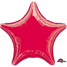 Red Metallic Standard XL Shaped Balloon