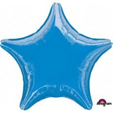 Blue Metallic Standard XL Shaped Balloon