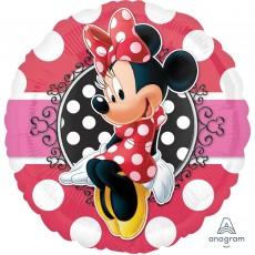 Round Minnie Mouse Standard HX Minnie Portrait ii Foil Balloon 45cm