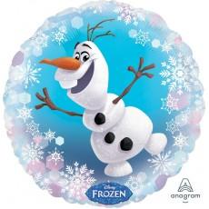 Round Disney Frozen Standard HX Olaf Foil Balloon 45cm