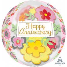Anniversary Flowery Shaped Balloon