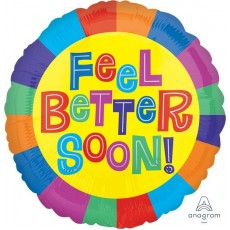 Get Well Party Decorations - Foil Balloon Feel Better Soon!