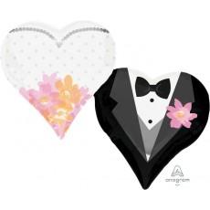 Wedding Party Decorations - Shaped Balloon Super XL Wedding Couple