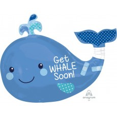 Get Well Party Decorations - Shaped Balloon SuperShape Whale