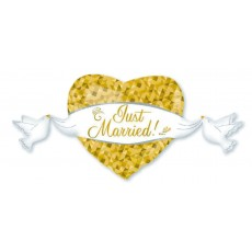 Wedding SuperShape Heart and Doves Shaped Balloon