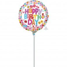 Dots & Stripes Flowers & Dots Foil Balloon