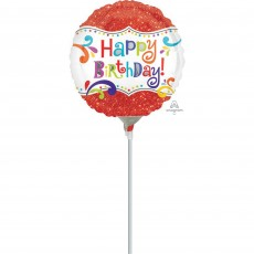 Happy Birthday Sparkle Foil Balloon