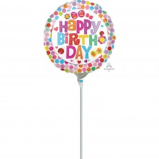 Dots & Stripes Flowers Butterflies & Dots Foil Balloon