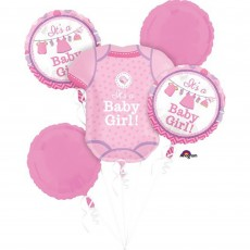 Shower with Love Girl Bouquet Foil Balloons