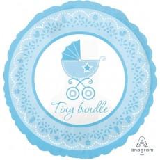 Round Baby Shower - General Standard HX Boy Tiny Bundle Foil Balloon 45cm