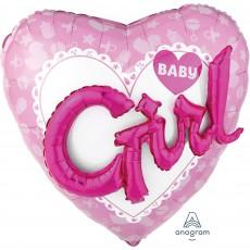 Heart Baby Shower - General Multi-Balloon Celebrate Baby Girl Shaped Balloon 91cm