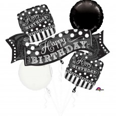 Chalkboard Party Decorations - Foil Balloons Bouquet