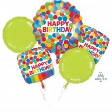 Rainbow Primary  Colours Bouquet Foil Balloons
