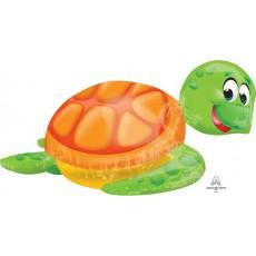 Hawaiian Luau UltraShape Silly Sea Turtle Shaped Balloon