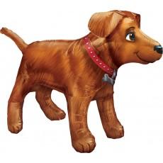 Gold en UltraShape Dog Shaped Balloon