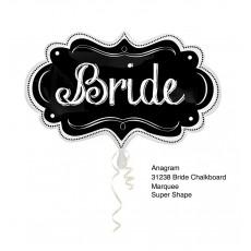 Wedding SuperShape Chalkboard Marquee Bride Shaped Balloon 69cm x 41cm
