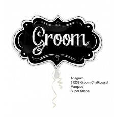 Chalkboard Black  Foil Balloon