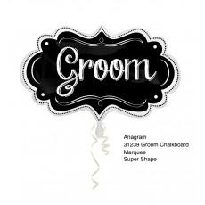 Wedding SuperShape Chalkboard Marquee Groom Shaped Balloon 40cm x 68cm