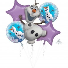 Character Shaped Disney Frozen Olaf Bouquet Foil Balloons Pack of 5
