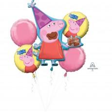 Peppa Pig Bouquet Foil Balloons
