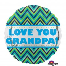 Father's Day Standard HX Chevron Foil Balloon