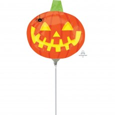 Halloween Mini Pumpkin with Spider Shaped Balloon