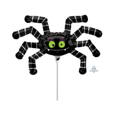Halloween Mini Striped Spider Shaped Balloon
