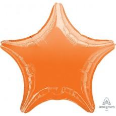 Star Metallic Orange Standard XL Shaped Balloon 45cm