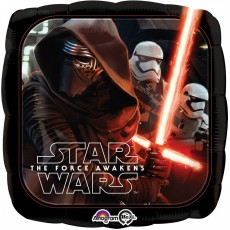 Star Wars Party Decorations - Square Foil Balloon The Force Awakens