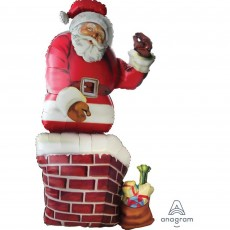 Christmas Santa & Chimney Shaped Balloon