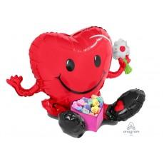 Love CI: Multi-Balloon Sitting Smiley Heart Shaped Balloon