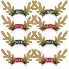 Christmas Santa's Reindeer Antlers Headband Party Hats