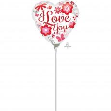 Love Floral Foil Balloon
