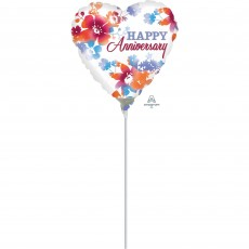 Anniversary Party Decorations - Shaped Balloon Watercolour Heart