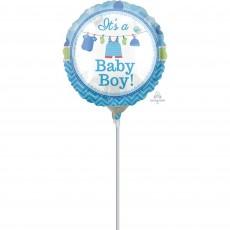 Round Shower with Love Boy It's a Baby Boy! Foil Balloon 23cm