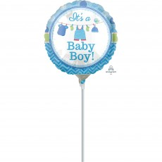 Round Shower with Love Boy It's a Baby Boy! Foil Balloon 10cm