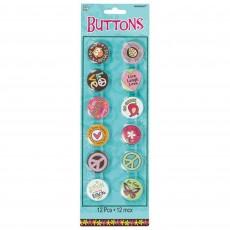 Hippie Chick Button Favours