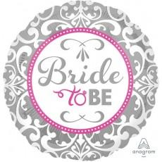 Bridal Shower Bride to Be Elegant Filigree Foil Balloon