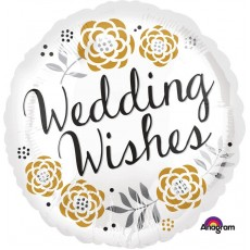 Wedding Wishes Floral Foil Balloon