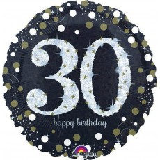 30th Birthday Sparkling Celebration Standard Holographic Foil Balloon