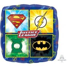 Square Justice League Standard HX Shaped Balloon 45cm