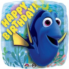 Finding Dory Party Decorations - Shaped Balloon Happy Birthday!